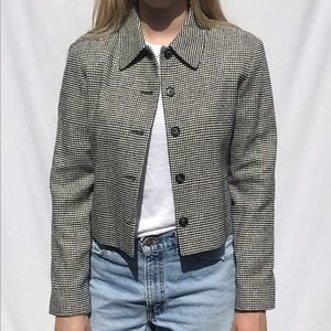 Vintage 7th Avenue West Houndstooth Blazer